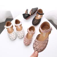 春季1-12岁女童包头镂空公主鞋凉鞋女童半凉鞋