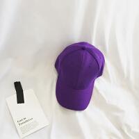 帽子女夏天鸭舌帽韩版百搭防晒情侣学生光板紫色太阳遮阳夏棒球帽 可调节