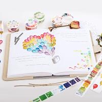 唯美羽毛星球气球和纸胶带整卷手账素材日记DIY装饰贴纸学生文具
