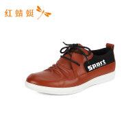 红蜻蜓新款春季男鞋系带休闲皮鞋舒适懒人鞋子男士休闲鞋