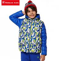 探路者童装 男童女童冬季印花三合一套羽绒冲锋服