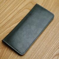男式皮长款钱包手工皮具日系时尚简洁手拿钱包