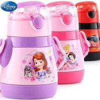 迪士尼儿童吸管米奇保温杯防漏不锈钢杯子小孩宝宝幼儿便携水杯