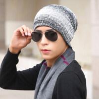 棉帽男士帽子韩版潮毛线帽加厚针织帽 套头帽包头帽