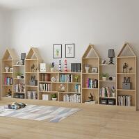 书架置物架实木多层创意小书架简约现代学生简易书柜书架落地 主图一套