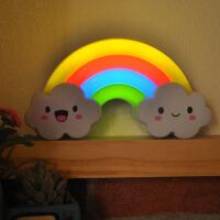 创意彩虹led小夜灯 触摸可调节亮度卧室灯 充电池声控感应氛围灯