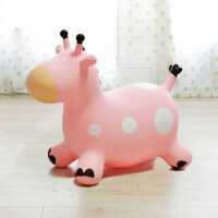儿童可爱室内宝宝充气玩具跳跳马坐骑橡胶皮马跳跳鹿