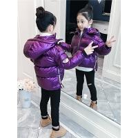 冬�b�n版小女孩加厚外套洋��和�短款棉衣潮女童羽�q款