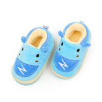户外加绒拖鞋儿童家居鞋婴幼儿室内鞋包跟男女童防滑保暖鞋
