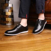 苹果APPLE韩版真皮系带时尚休闲皮鞋英伦商务青年透气男