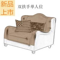 美式家具沙发头层牛皮乡村客厅整装组合大小户型油蜡皮质转角沙发定制 组合