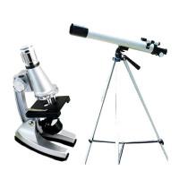 科学探索 学生6档1200倍变焦奇趣显微镜+深奥天文望远镜二合一套装 TWMP-0406