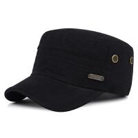 新款男士秋冬季休闲平顶帽户外保暖帽全棉军帽鸭舌帽