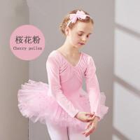 儿童舞蹈服装女童长袖练功服少儿芭蕾舞裙体操服