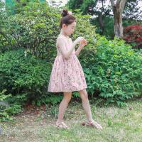 女童夏装裙子中大童碎花连衣裙田园小清新儿童无袖网纱裙背心裙