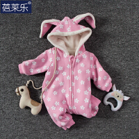婴儿连体衣服01岁宝宝新生儿衣服冬季春装冬季哈衣外出服