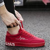 新款青少年夏季男士板鞋时尚休闲帆布鞋男韩版潮流透气学生潮鞋子