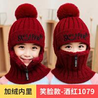 �r尚�和�帽子秋冬季男童女童加�q一�w帽�T�小孩毛�帽防寒保暖����帽
