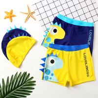 儿童泳裤男童平角泳衣游泳衣带帽宝宝泳衣男孩分体泳装中大童泳衣