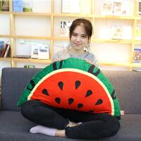 沙发靠垫大号创意生日礼物女生仿真水果西瓜柠檬抱枕公仔毛绒玩具