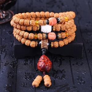 正宗尼泊尔五瓣藏式小金刚菩提108颗佛珠手串