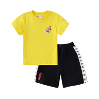 【3件3折到手价:86】小猪班纳男童短袖T恤运动短裤两件套儿童套装纯棉
