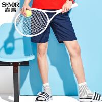 森马休闲短裤男士2017夏装新款夏天宽松运动黑色运动潮牌速干裤子