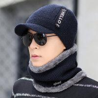 帽子男冬天针织帽保暖韩版潮时尚冬季男士毛线帽骑车防风棉帽防寒新品