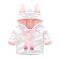 女童外套秋冬装儿童新款中小童加绒上衣男童宝宝休闲棉衣潮新年