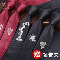 定位花型防水男士新郎商务 韩版窄领带休闲5CM新郎英伦风盒装