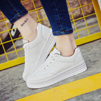 厚底小白鞋女 百搭韩版帆布鞋女学生板鞋休闲鞋子