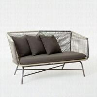 户外阳台庭院花园桌椅藤椅三件套室内外创意休闲懒人藤编沙发组合