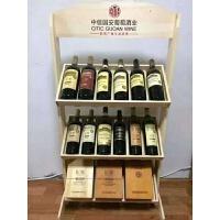 红酒展示架落地葡萄酒架欧式实木酒柜摆件酒瓶架倒挂杯架木制货架