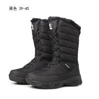 冬户外雪地靴女中筒加绒滑雪鞋防水防滑东北棉靴男旅游登山鞋情侣新品