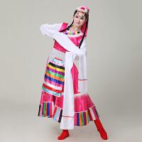 藏族舞蹈服女少数民族服装舞台演出服西藏表演服水袖长裙服装 枚 XX