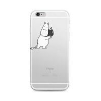 【全国包邮】hidog 苹果iPhone6手机壳个性原创意透明简约6s plus保护套软硅胶