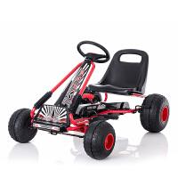 儿童卡丁车四轮脚踏自行车运动健身玩具汽车可坐宝宝沙滩童车 新款环保轮TL-6688脚踏卡丁车 其它