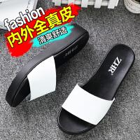 【掌柜推荐】ZHR夏季新品拖鞋韩版平底凉拖鞋学生平跟一字拖女鞋潮室外鞋