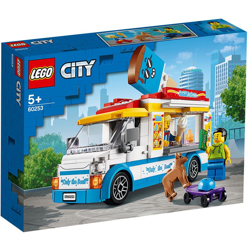 【当当自营】LEGO乐高积木 城市组City系列 60253 冰激凌车 玩具礼物