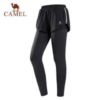 CAMEL骆驼瑜伽女套装裤 舒适干爽透气健身跑步运动休闲两件长短裤