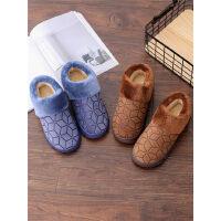 中老年大码棉鞋男冬季包跟防滑厚底保暖男士棉拖鞋
