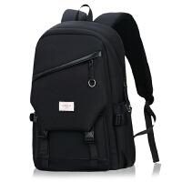 双肩包男士商务休闲1寸多功能电脑包大容量旅行包防盗出差背包男