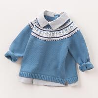 戴维贝拉春春秋男童针织衫 男宝宝套头长袖毛衣DB5899