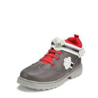 鞋柜SHOEBOX冬款男童灰色魔术贴高帮休闲鞋