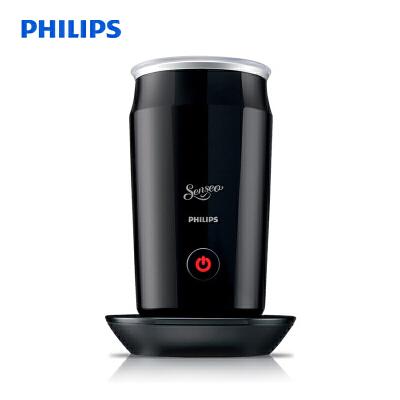 飞利浦(PHILIPS)多功能奶泡机 牛奶加热器 黑色CA6500/61 炫酷黑外观,一键触控冷热奶泡随心配!
