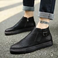 CUM 男鞋秋季潮鞋磨砂皮高帮板鞋男潮流短靴青年男士英伦休闲鞋子