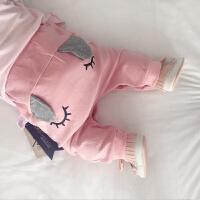 婴儿裤子春季宝宝哈伦裤0岁3个月新生儿冬装春装春季外出