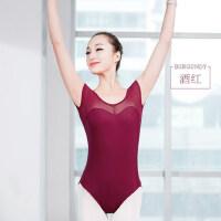 舞蹈练功服成人女短袖芭蕾舞服古典舞连体衣舍宾服体操服
