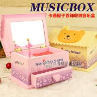 屋型化妆镜音乐盒八音盒 卡通创意音乐盒 女生礼物儿童礼品