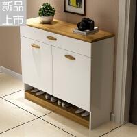 简约现代鞋柜烤漆多功能简易经济型组装大容量客厅玄关门厅柜定制 组装